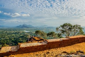 Royal Palace ruins with a view on Lion Rock Sigiriya