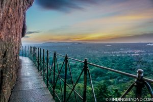 Sunset at Lion Rock in Sigiriya