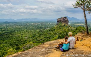 View of Lion Rock from the top of Pidurangala