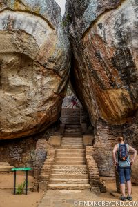 Start of Lion Rock Stairs in Sigiriya