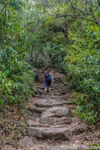 Starting the climb up Pidurangala Rock in Sigiriya