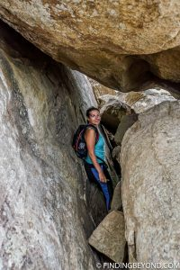 Pidurangala Rock boulder pathway in Sigiriya
