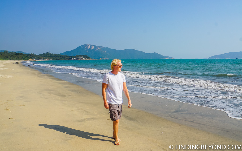 Upper Cheung Sha Beach on Lantau Island Hong Kong