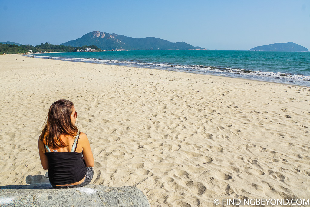 Lower Cheung Sha Beach on Lantau Island Hong Kong
