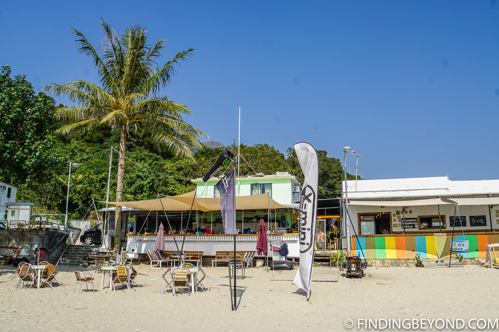 Restaurant at lower Cheung Sha Beach on Lantau Island Hong Kong