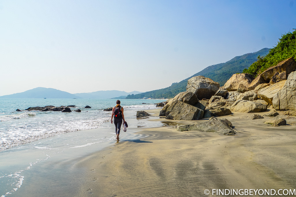 Headland at Cheung Sha Beach on Lantau Island Hong Kong