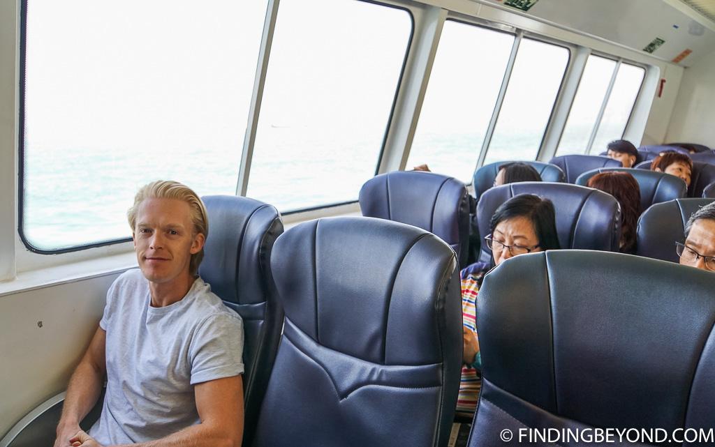 Ferry to Cheung Sha Beach on Lantau Island Hong Kong