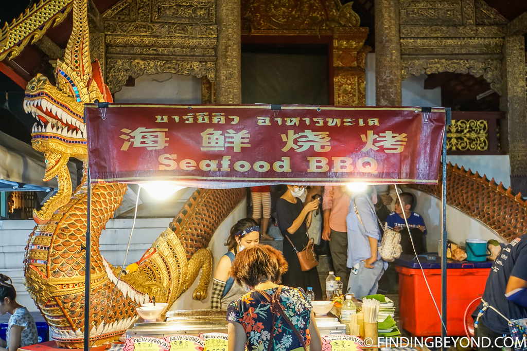 Street food at Sunday walking street in Chiang Mai