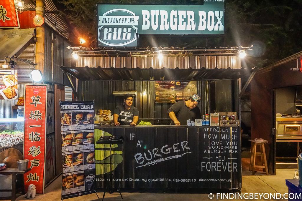 Burger box street food vendor