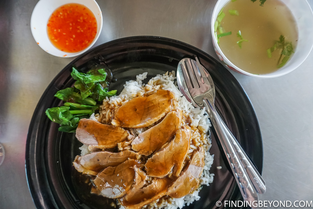 Duck on rice street food in Chiang Mai