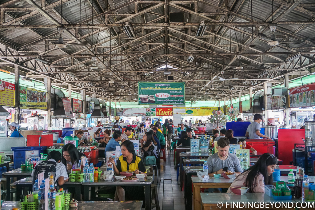 Huge street food canteen in Chiang Mai