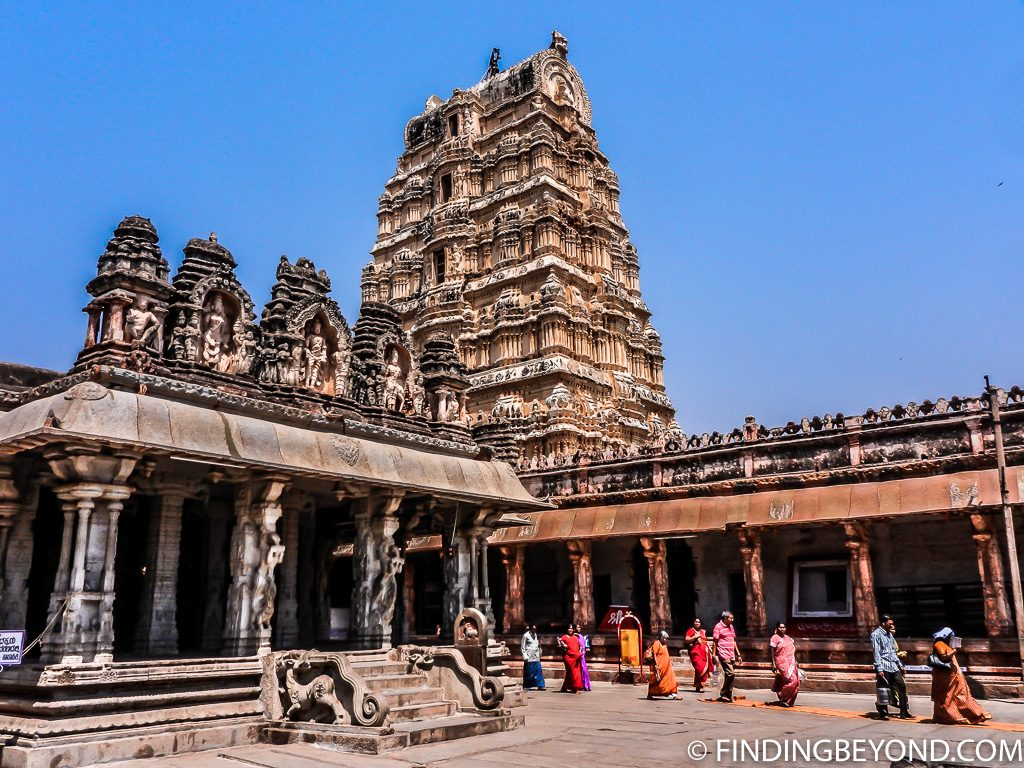Indian photo of Hindu temple in Hampi