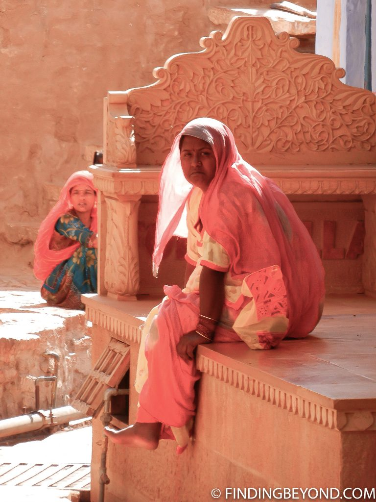 Indian photo of woman in Jaisalmer fort