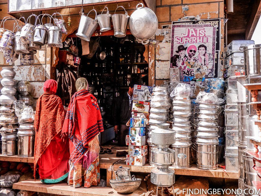 Indian photo of shop in Jaisalamer