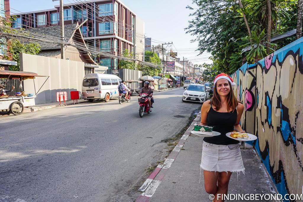 Our street in Santitham Chiang Mai Thailand