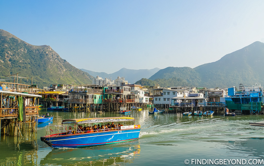 Boat trip in Hong Kong Lantau Island Tai O Fishing Village