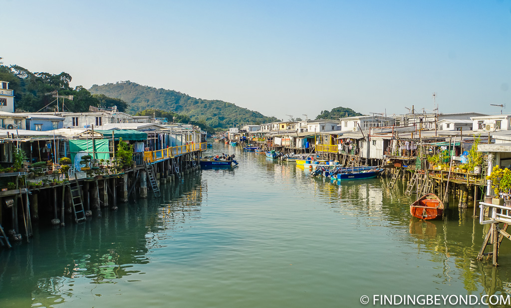 View of Tai O Fishing Village on Lantau Island Hong Kong