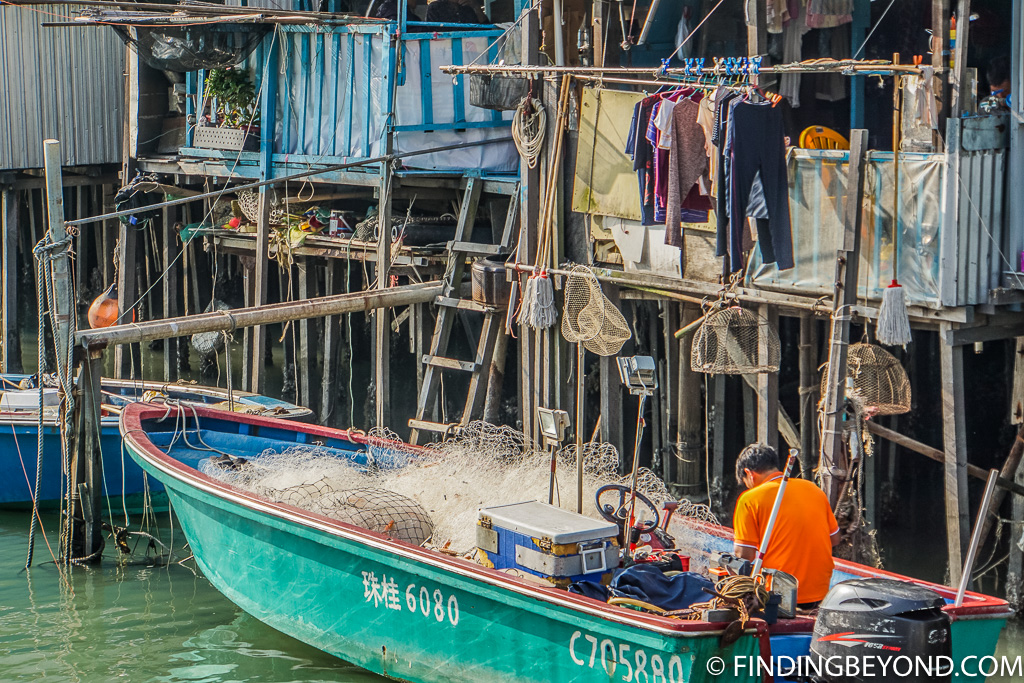 Fisherman in Hong Kong Lantau Island Tai O Fishing Village