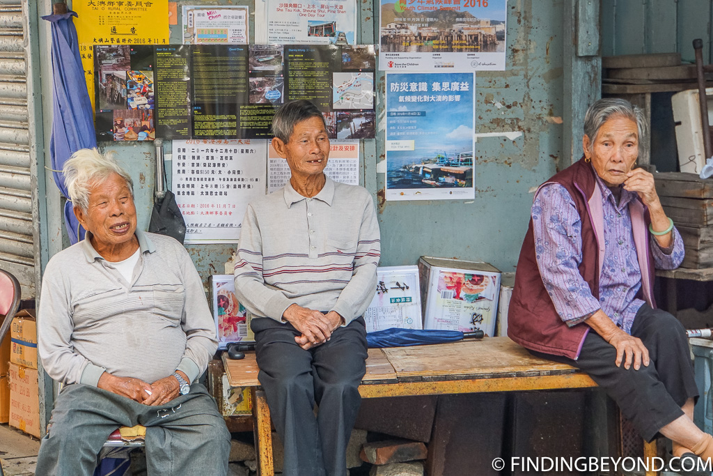 Locals in Hong Kong Lantau Island Tai O Fishing Village