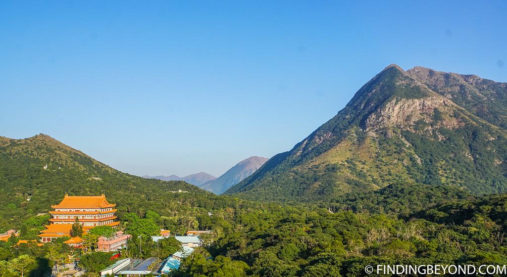 View at Tian Tan Buddha of the Po Lin Monastery