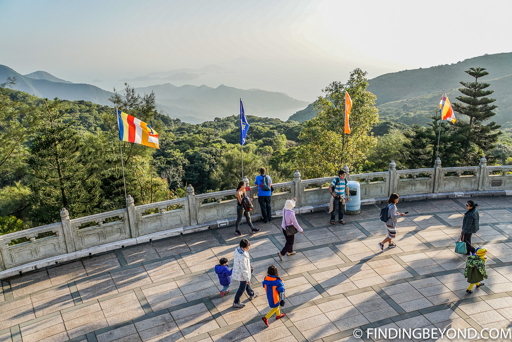 View at Tian Tan Buddha in Lantau Island Hong Kong