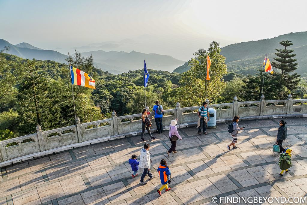 View at Tian Tan Buddha in Lantau Island Hong Kong