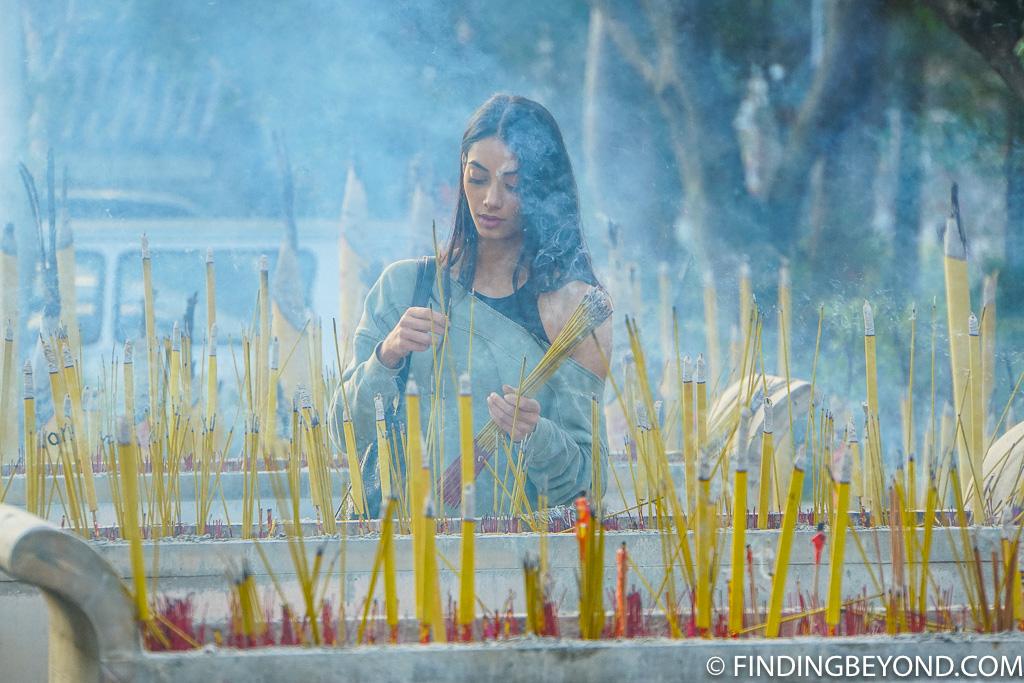 Po Lin Monastery incense sticks in Lantau Island Hong Kong
