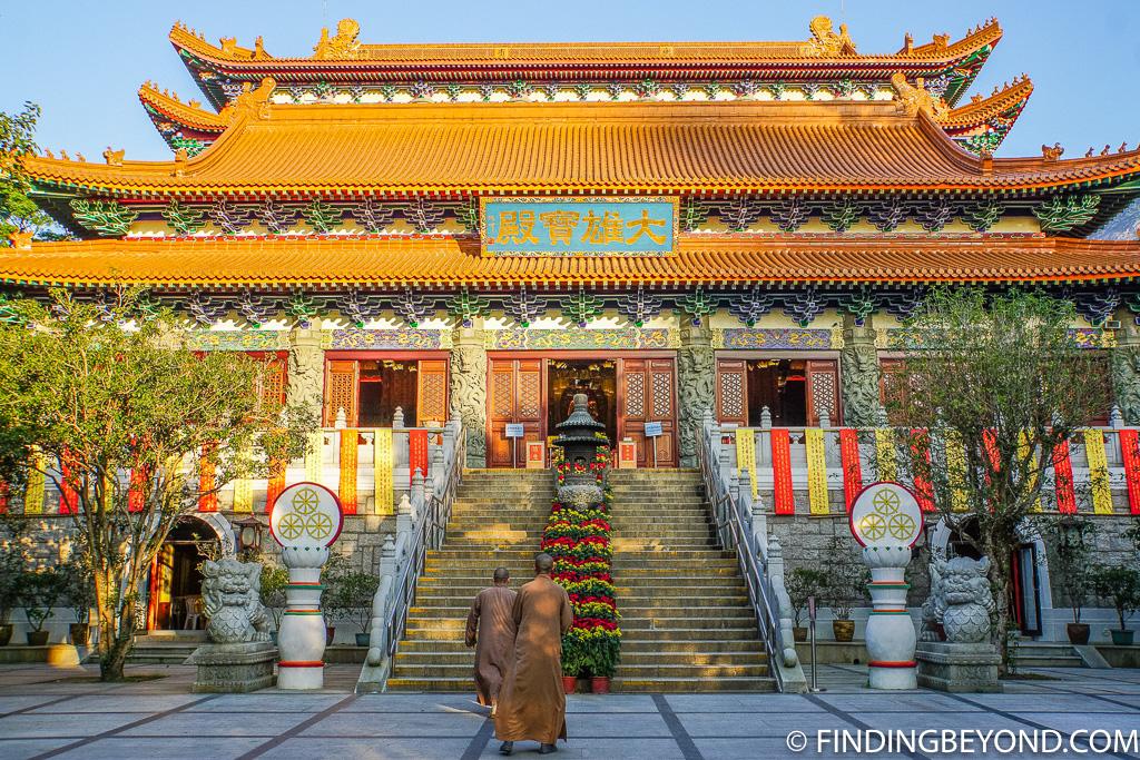 Po Lin Monastery in Lantau Island Hong Kong