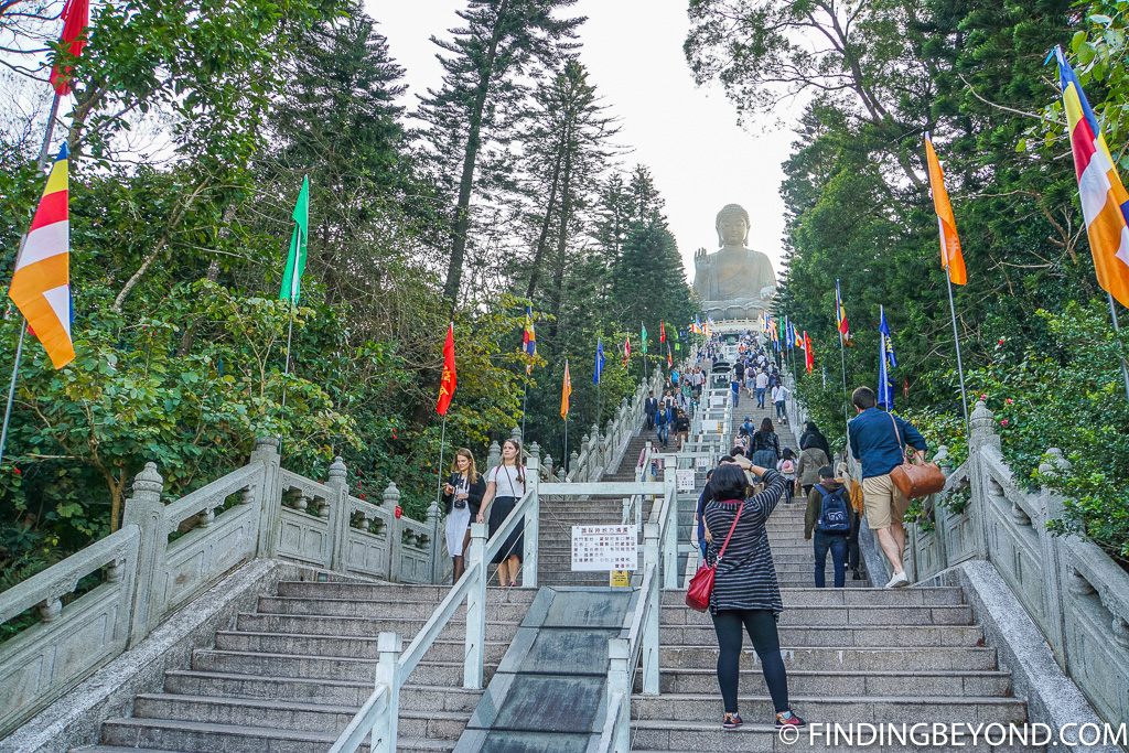 Tian Tan Buddha Steps in Lantau Island Hong Kong