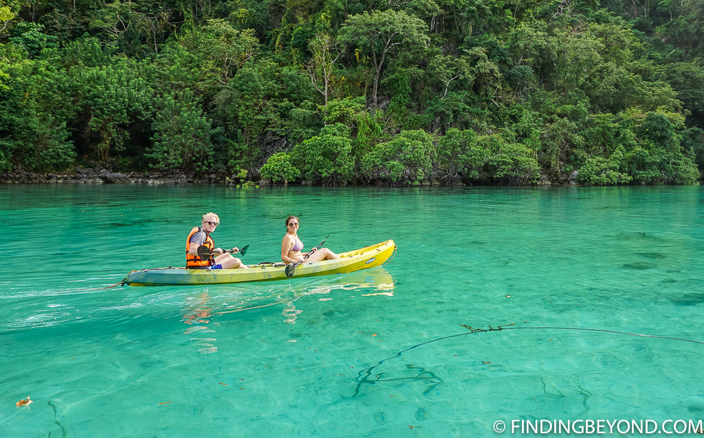 Kayaking on The Best Coron Itinerary For Coron Island Hopping in Palawan