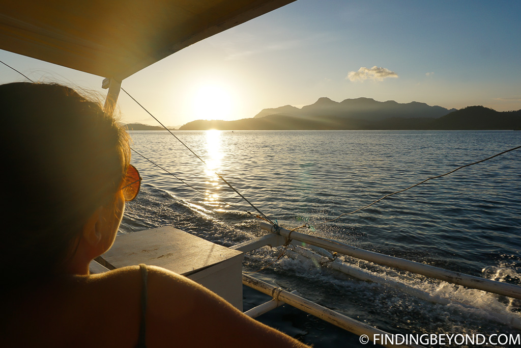 Sunset on The Best Coron Itinerary For Coron Island Hopping in Palawan