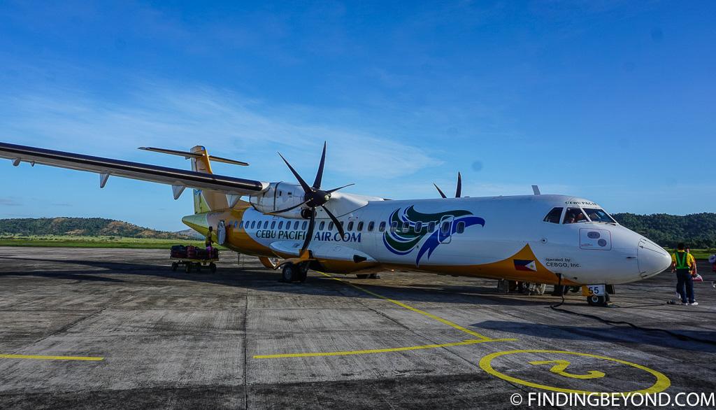Our Cebu Pacific plane at Coron Island airport