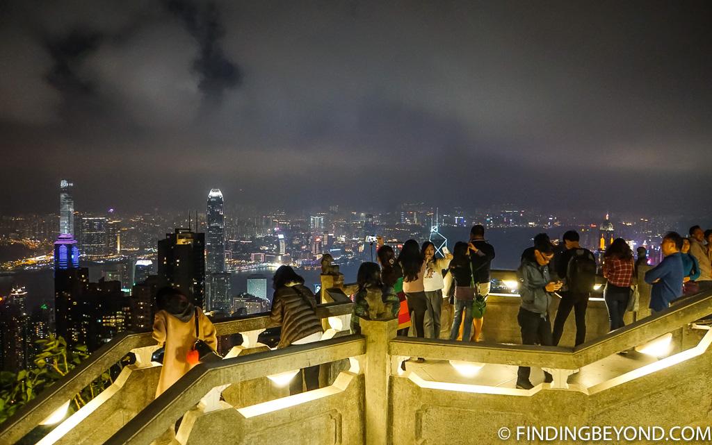 Viewpoint - Hong Kong Night View Victoria Peak at Night