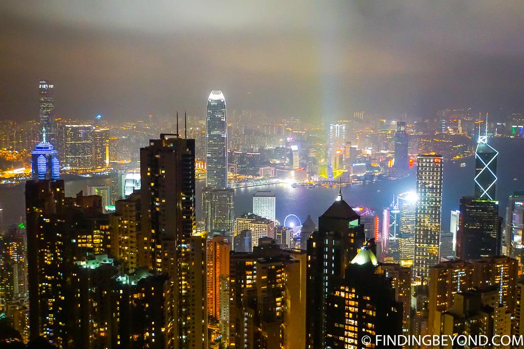 Hong Kong Night View Bus to Victoria Peak at Night
