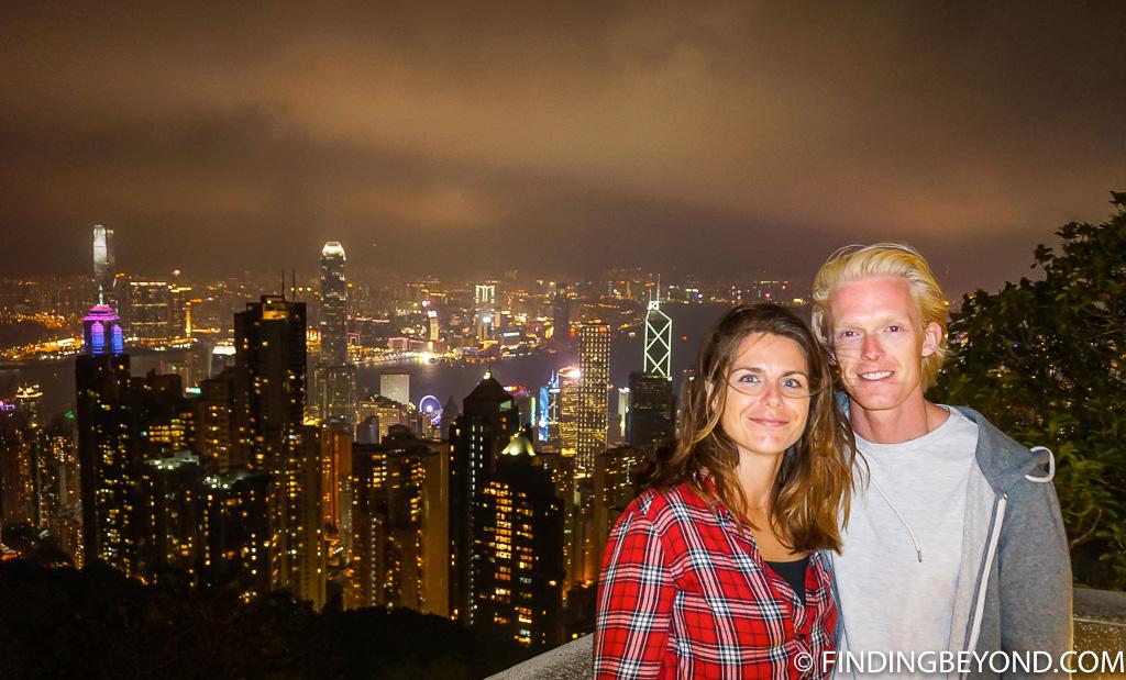 Us - Hong Kong Night View Victoria Peak at Night