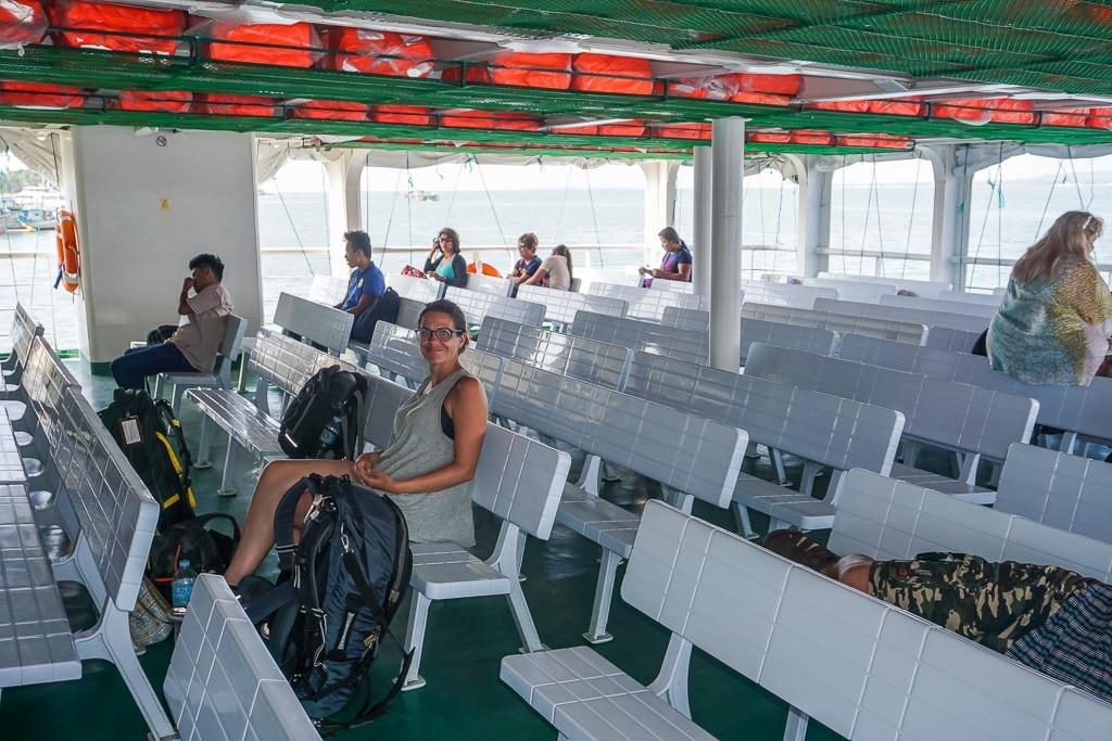 Ferry to Santa Fe on Bantayan Island, Cebu, Philippines