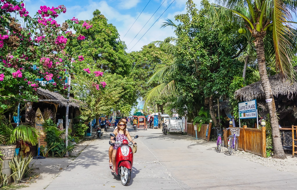 Main Street in Santa Fe on Bantayan Island, Cebu, Philippines