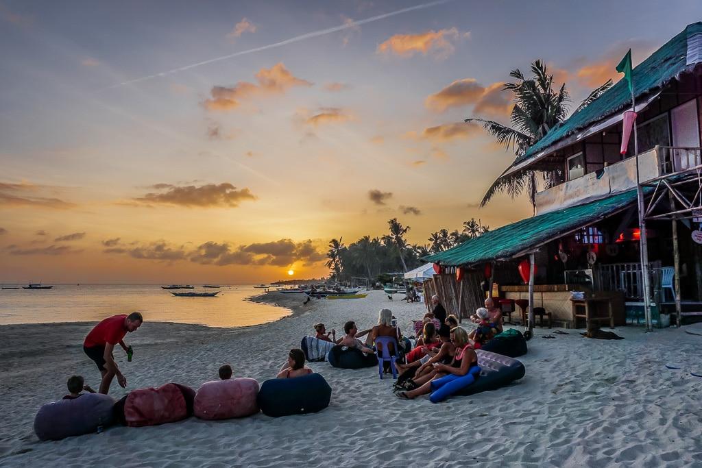 Sunset at Santa Fe Beach on Bantayan Island, Cebu, Philippines