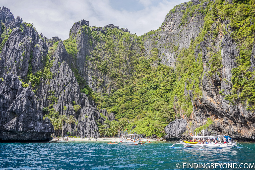 Limestone cliffs on our El Nido Trip