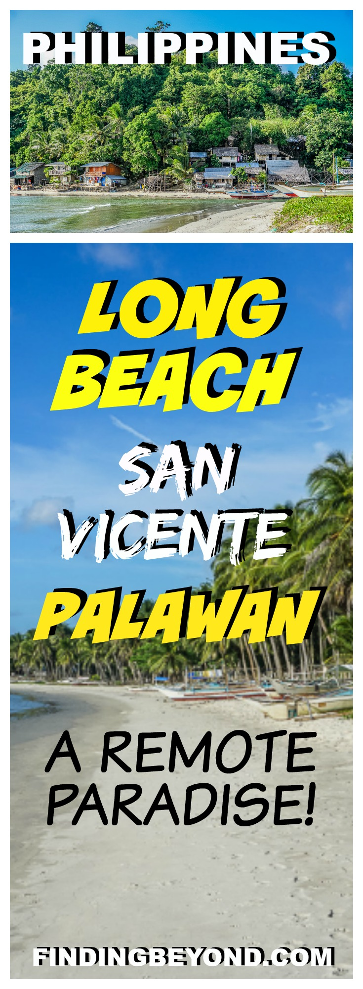 In this post, we quietly reveal a little known remote paradise, touted as the longest white sand beach in the Philippines - Long Beach San Vicente Palawan.