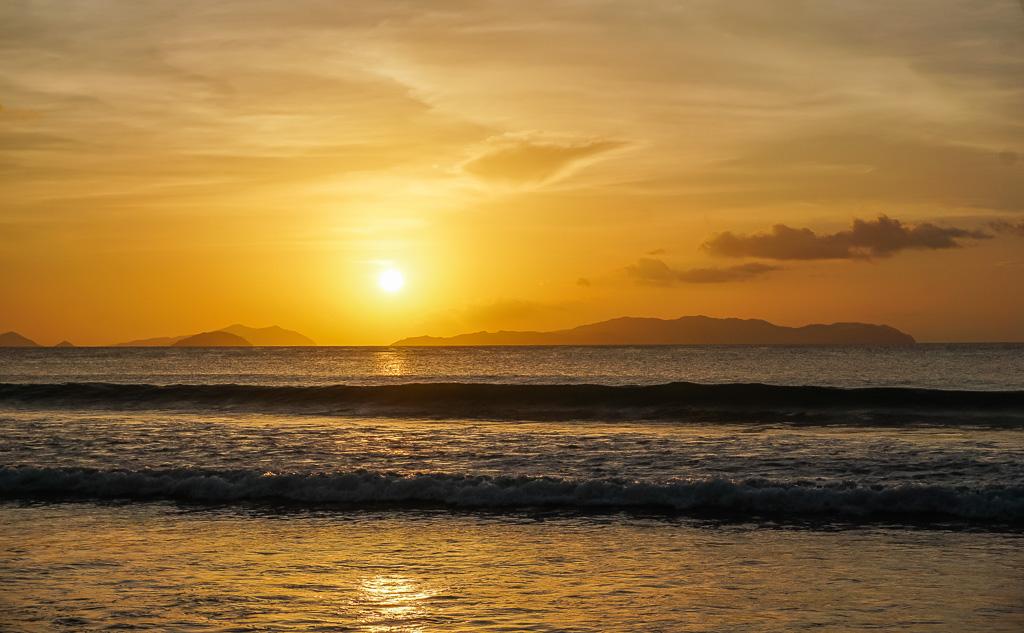 Sunset at Long Beach San Vicente Palawan Alimanguan