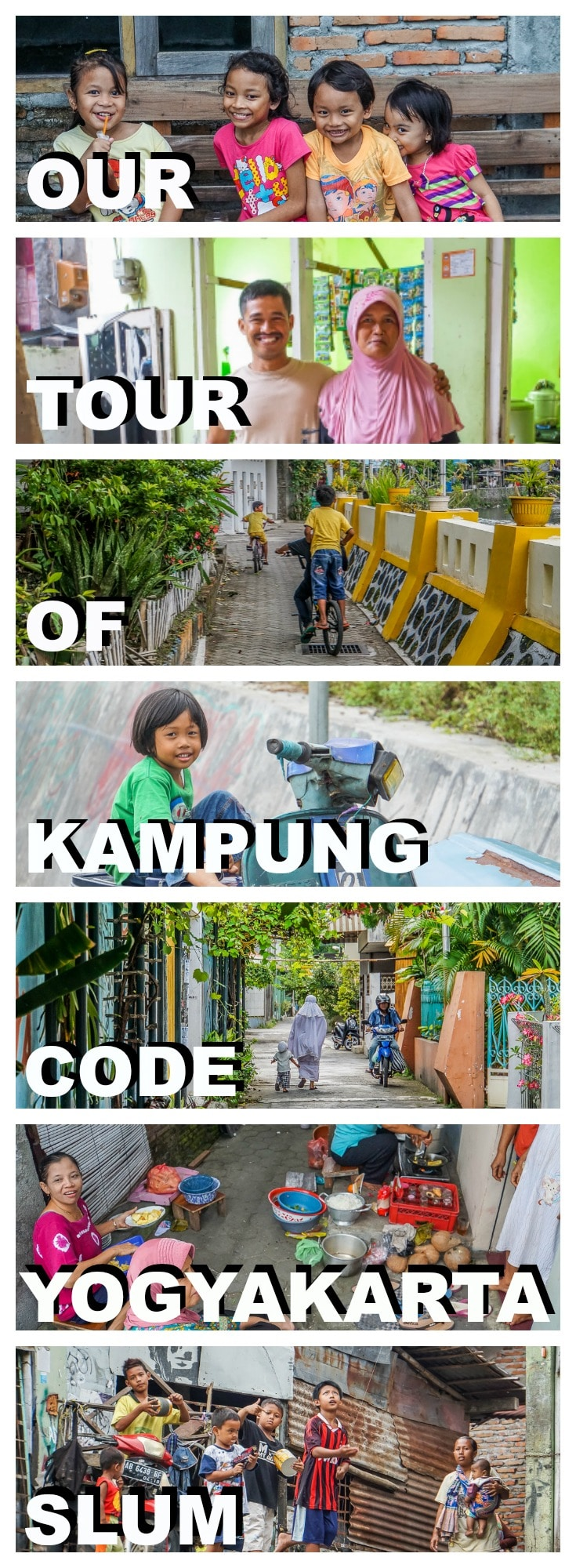 Kampung Code is a former slum neighbourhood in Yogyakarta, Central Java. Join us on this alternative village tour where we meet with the locals.