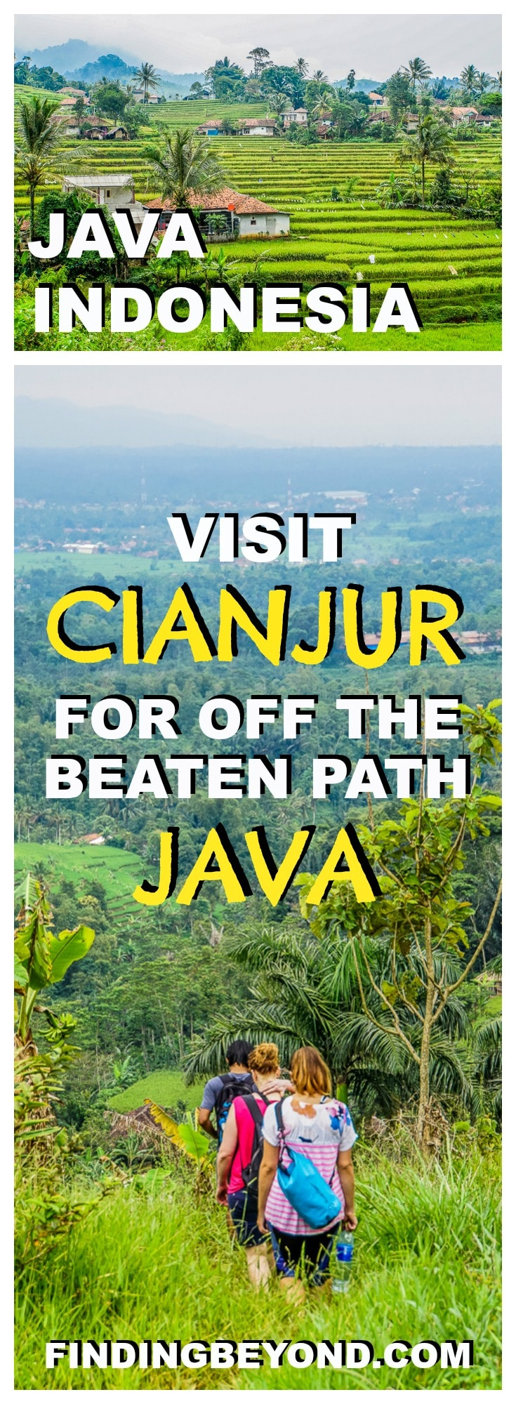 For rice fields, tea plantations, rural villages and national parks, visit Cianjur in West Java Indonesia for a non-touristy off the beaten path experience.