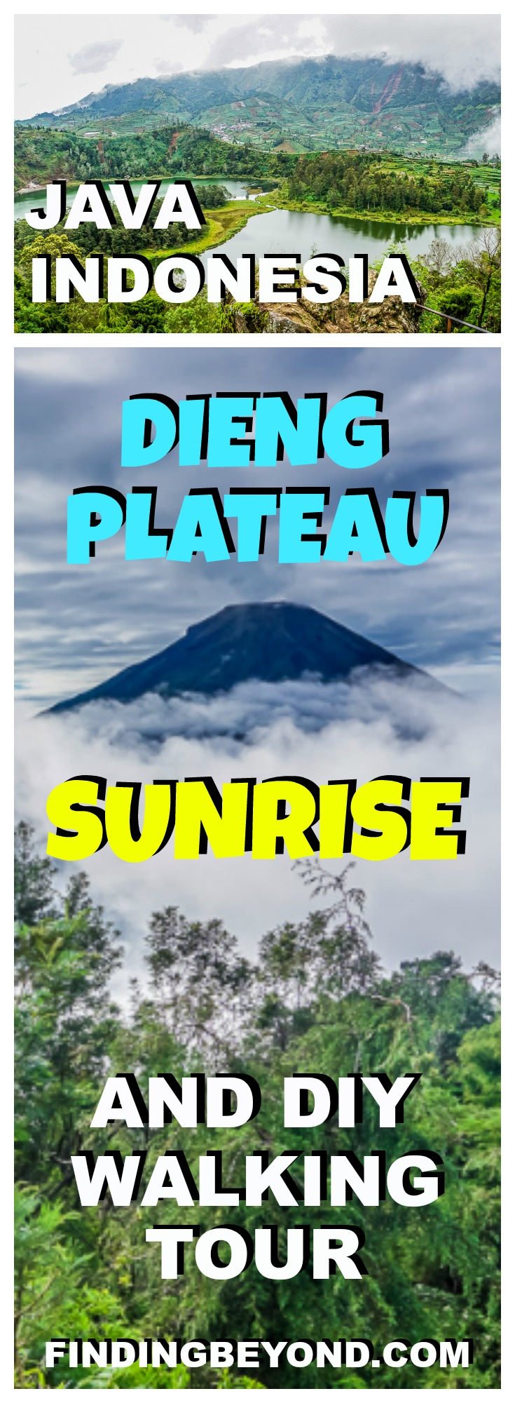 Check out our Dieng Plateau sunrise and DIY walking tour in Java. You don't need a guide to see the soaring volcanoes, steaming craters and colourful lakes.