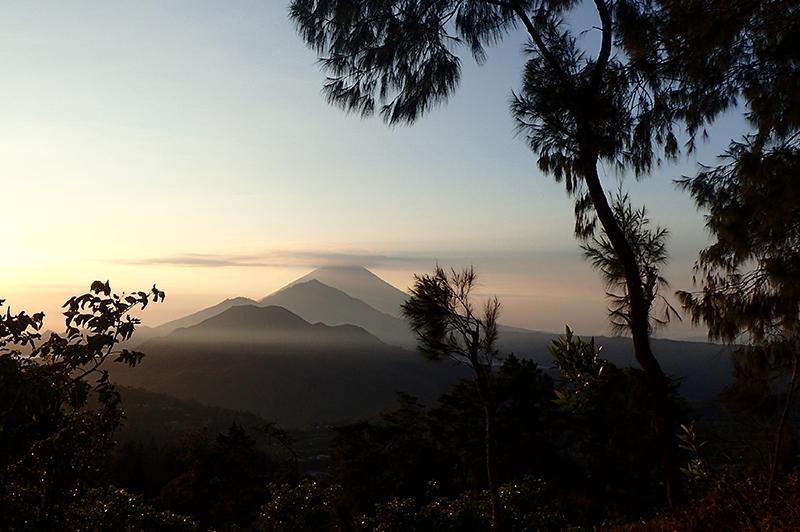 Mt Batur Volcano Sunrise