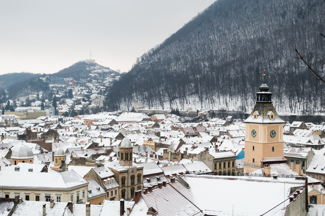 living in brasov romania as a digital nomad city view