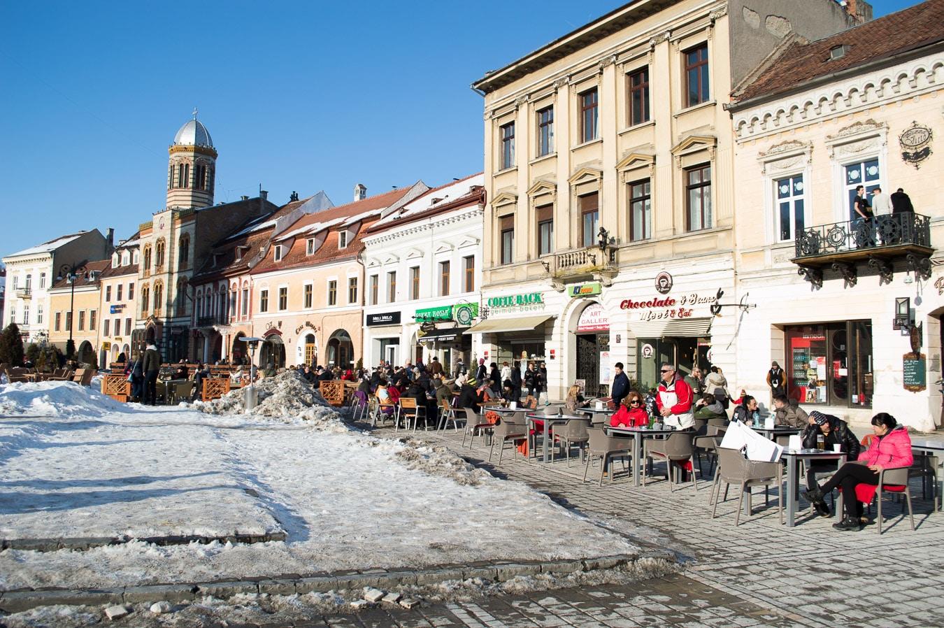 living in brasov romania as a digital nomad street