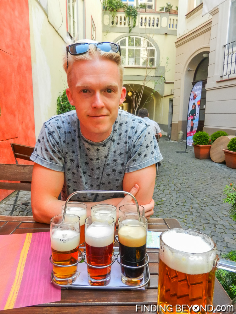 Trying 6 of the many beers on offer in Prague