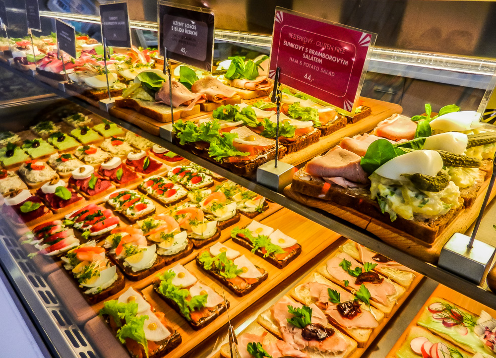 Open sandwiches at Sisters, Prague.