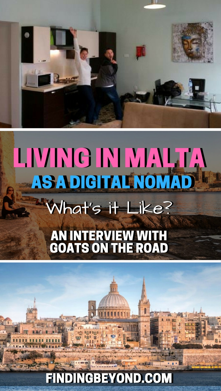 Find out what it's like to be living in Malta as a Digital Nomad by reading our interview with big time travel bloggers Goats on the Road.